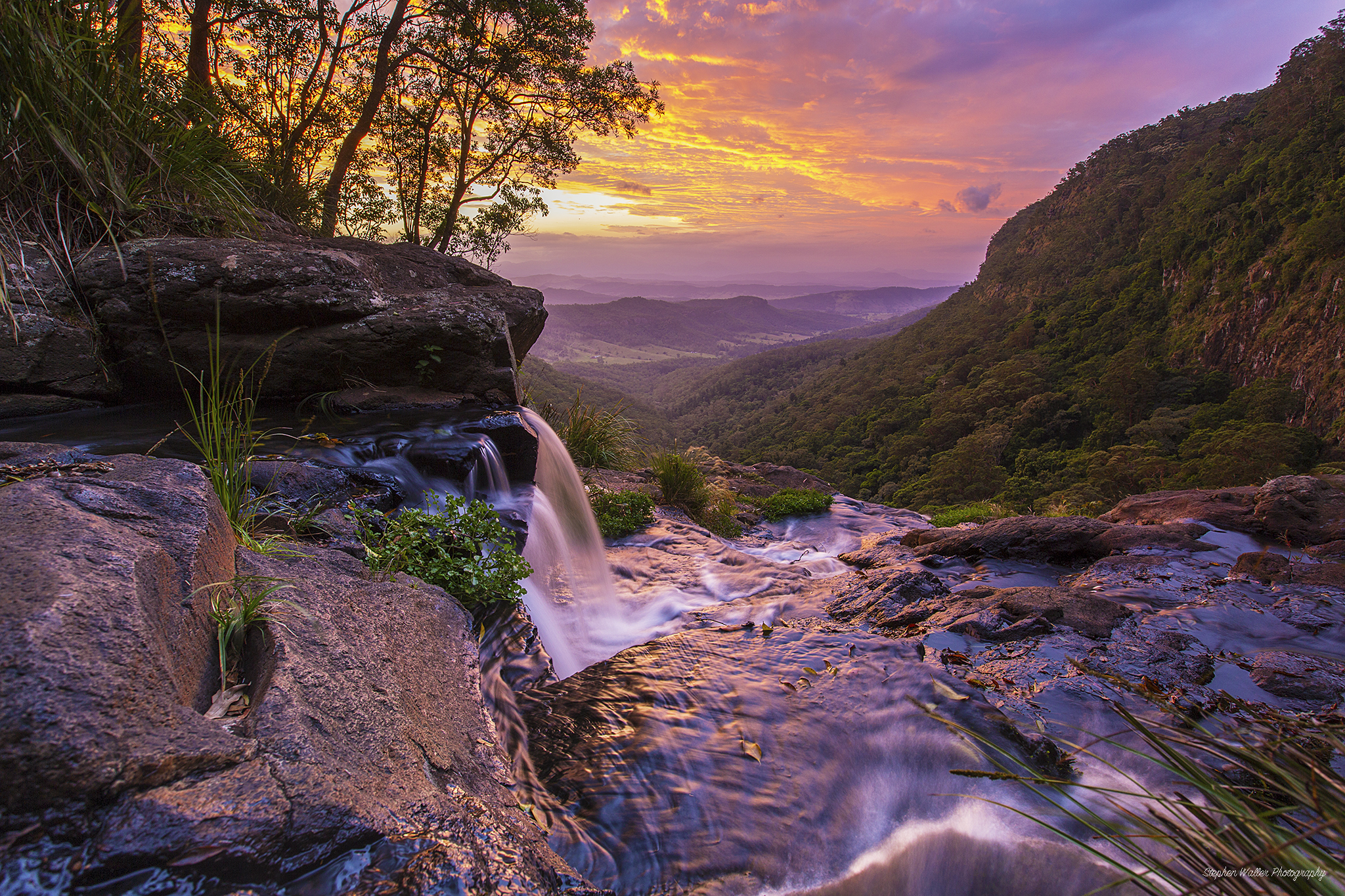 Moran Falls Sunset